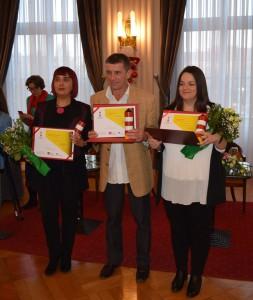 Dobitnici_s desna na lijevo - Antonela Galić Pruša_Vlado Čutura_Petra Marinčić